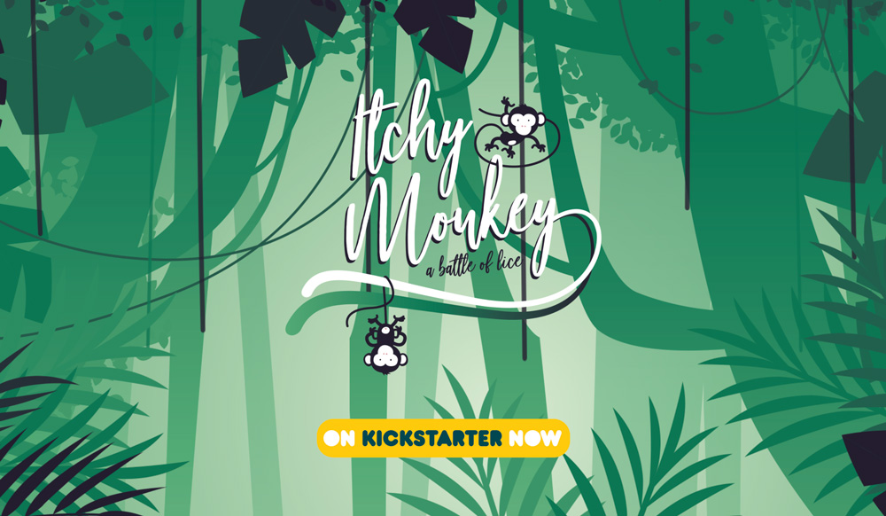 Itchy monkey now on kickstarter 2018