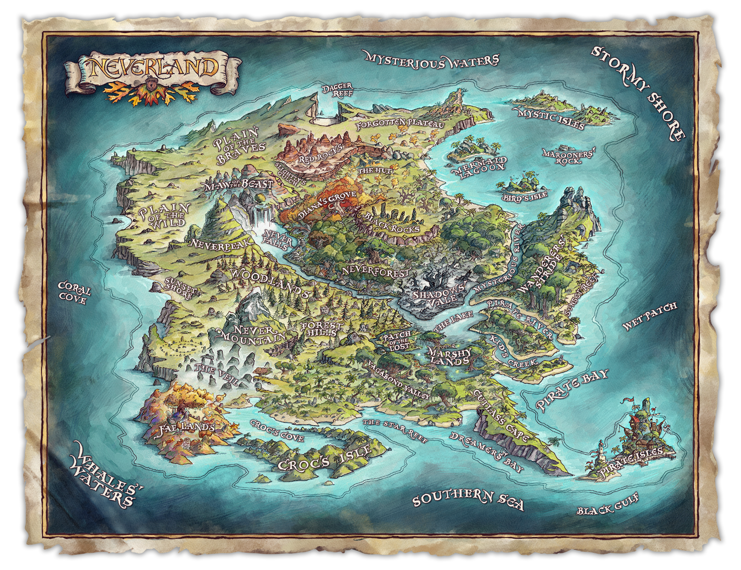 AdventuresinNeverland_Map